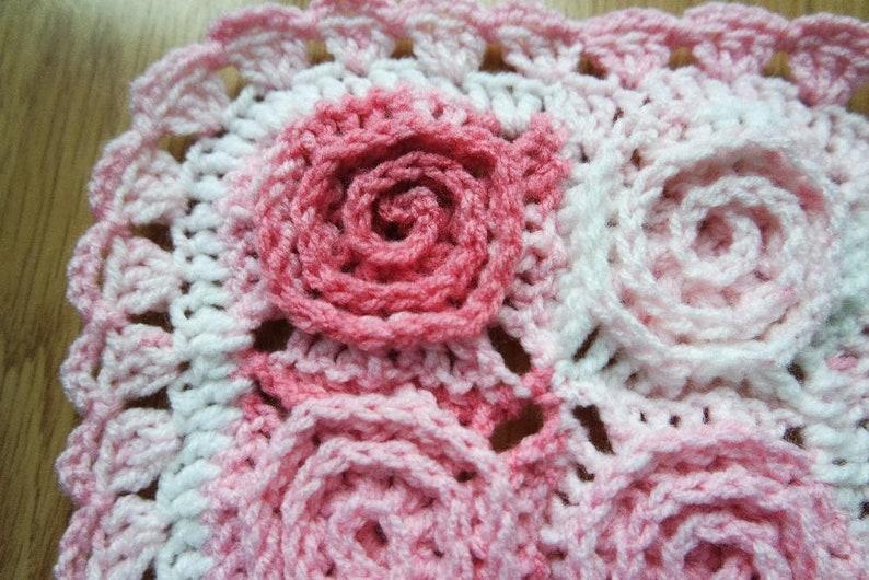 Crochet spiral blanket flower afghan pattern pdf by marifu6a