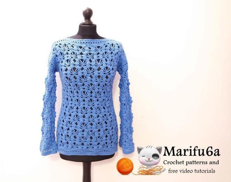 47ec61654 Crochet pullover sweater pattern for beginners Nr 24