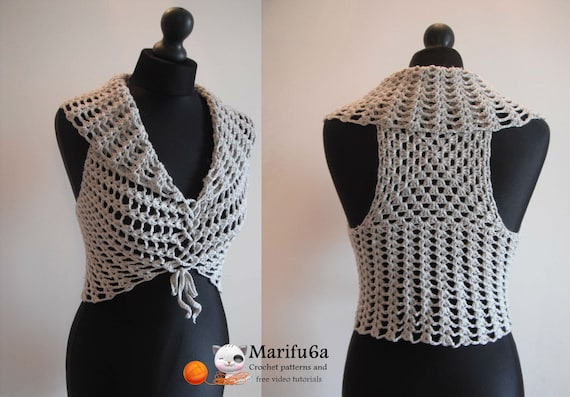 Crochet easy diagonal top all sizes for beginners pattern by marifu6a