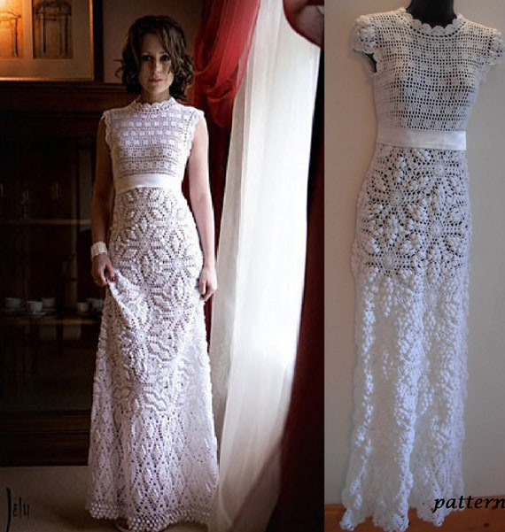 Crochet wedding dress pattern pdf  Crochet Pattern