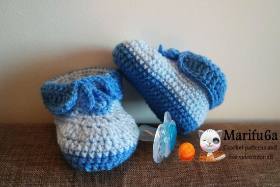 Easy Crochet Baby Booties Pattern Pdf 125 Etsy
