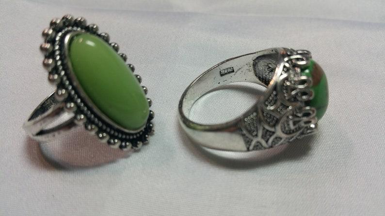 RING LOT,2 Piece ring set Green Rings,BOHO rings
