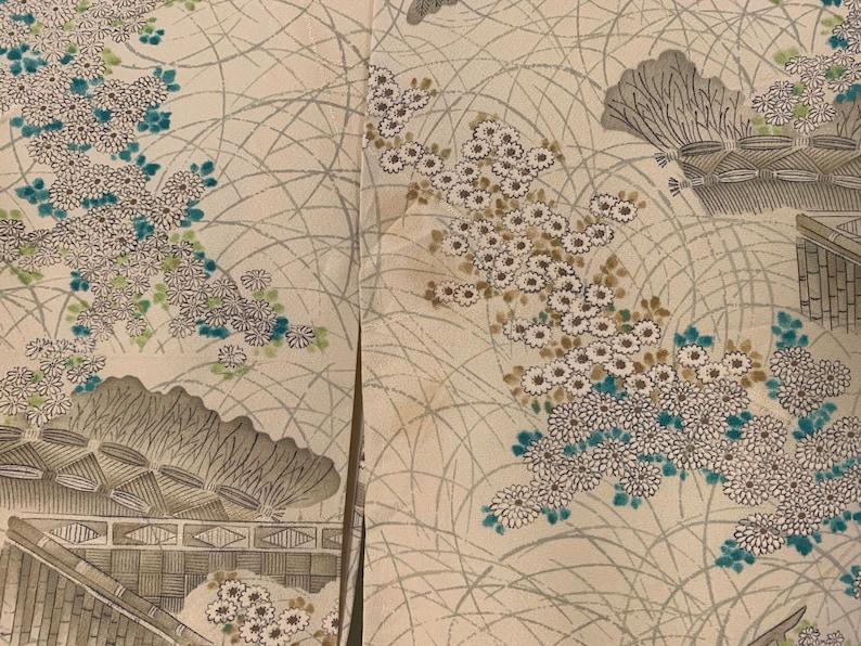 Authentic Japanese Kimono Yukata in Japanese Traditional Scene Motif