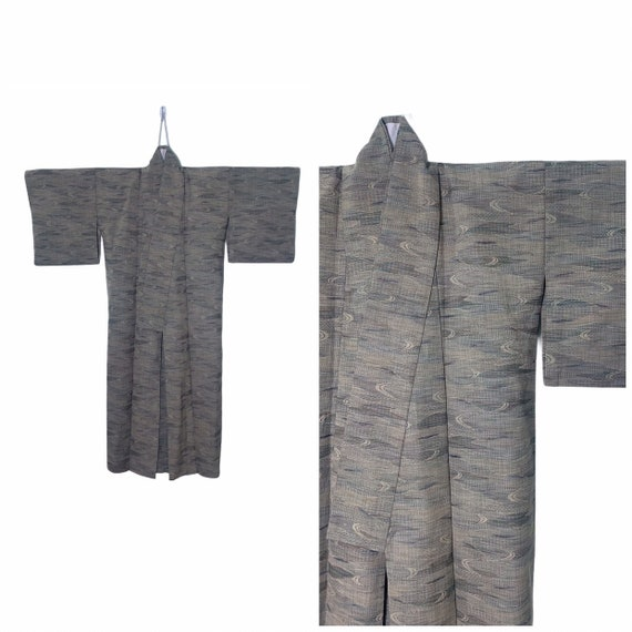 Authentic Japanese Kimono Yukata in Unique Motif