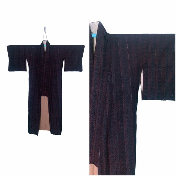 Authentic Japanese Kimono Yukata in Unique Pattern