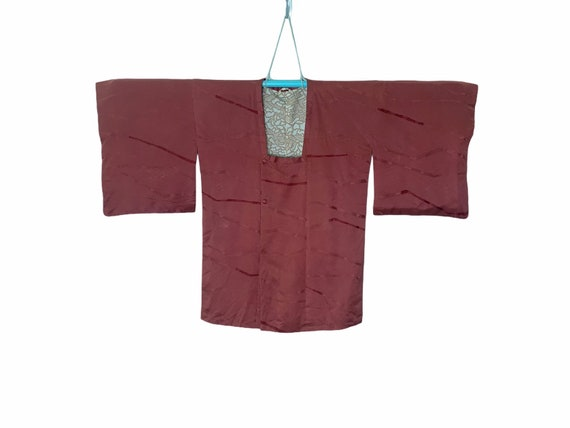 Authentic Japanese Kimono Michiyuki in Red Brick C