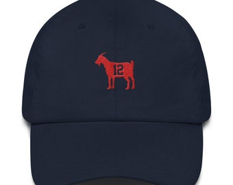 Vintage-style 90s Minimal Tom Brady Goat Unstructured Strapback Hat  Baseball Cap e097d3dbd78