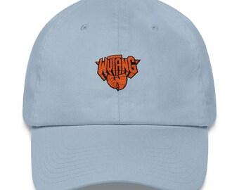 31065f4e51589 Vintage-style 90s Minimal Wutang New York Knicks NBA Unstructured Strapback  Hat Baseball Cap