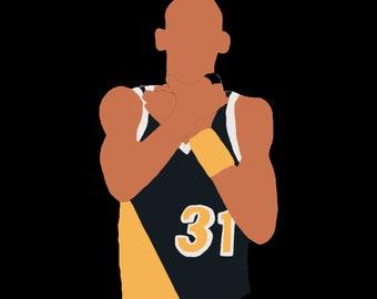 Reggie Miller Choke Indiana Pacers Graphic T-Shirt 4c7c30ffc