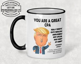 FINANCIAL ANALYST Gift Funny Trump Mug Best Birthday Christmas Jobs