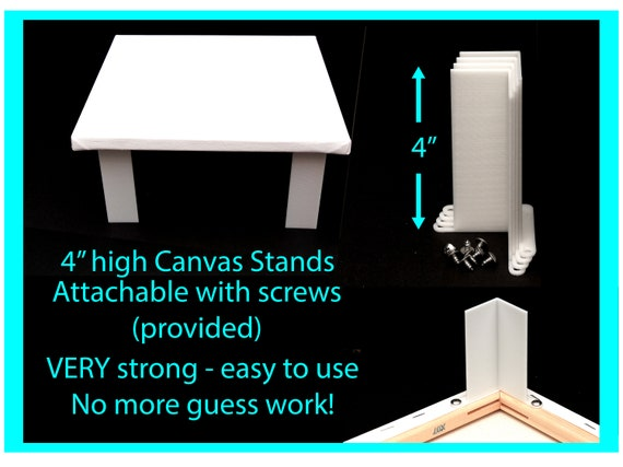 Canvas Stands for Acrylic Pouring 4 inches high Attachable , Acrylic Pouring Tools, Fluid Art Supplies Canvas Risers