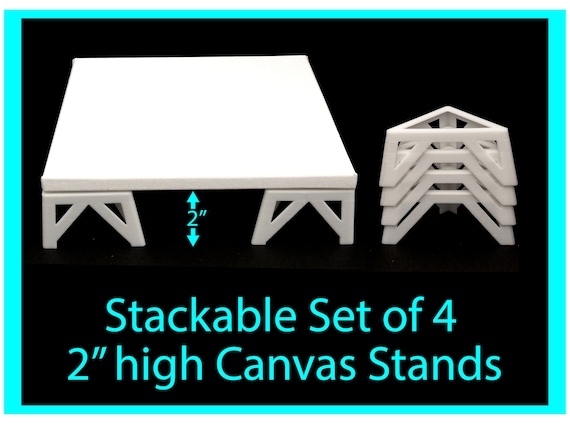 Canvas Stands for Acrylic Pouring 2 inches high, Acrylic Pouring Tools, Fluid Art Supplies Canvas Risers
