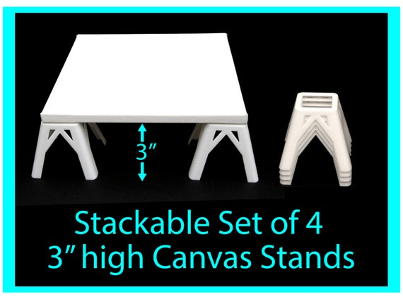 Canvas Stands for Acrylic Pouring 3 inches high, Acrylic Pouring Tools, Fluid Art Supplies Canvas Risers
