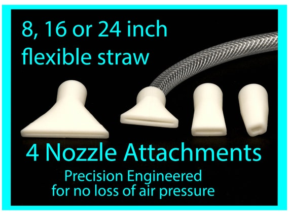 Dutch Pour Flexible Straw Set for Acrylic Pouring Art, 4 Nozzle Attachments, Fluid Art tools, Precision Pouring Tools
