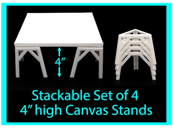 Canvas Stands for Acrylic Pouring 4 inches high, Acrylic Pouring Tools, Fluid Art Supplies Canvas Risers