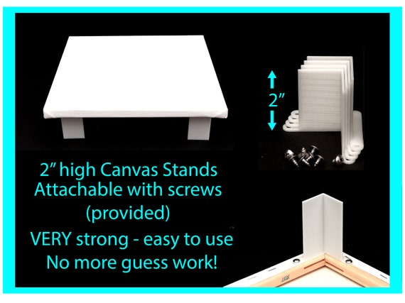 Canvas Stands for Acrylic Pouring 2 inches high Attachable , Acrylic Pouring Tools, Fluid Art Supplies Canvas Risers
