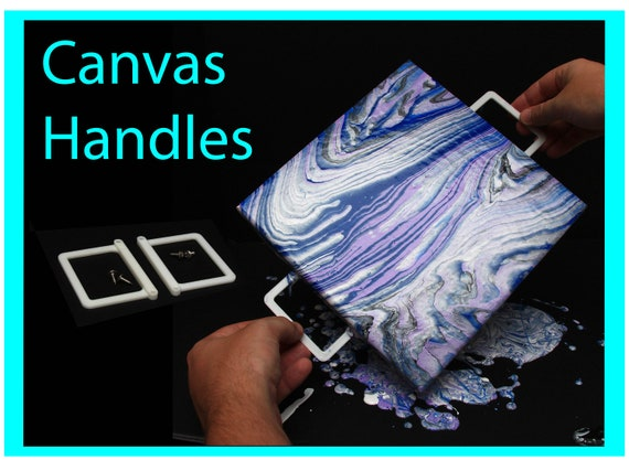 Attachable Canvas Handles - Acrylic Pouring Tools, Fluid Art Supplies Canvas Risers