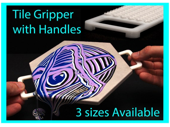 Tile Gripper with Handles and Grip Pad, Acrylic Pouring Tools, Fluid Art Supplies Canvas Risers