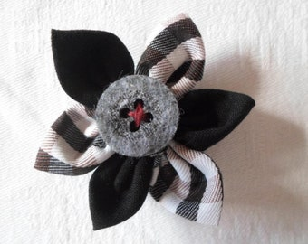 Fabric flower as a pin