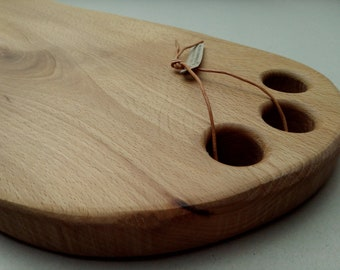 Wooden board made of beech