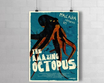 """Poster """"The Amazing Octopus"""""""