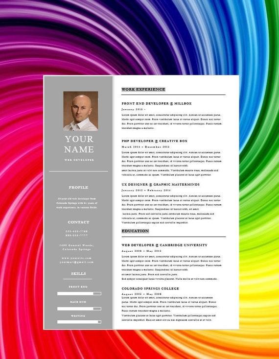 Développeur Web Modèle De Cv Moderne Pour Word 1 Page Design Moderne Reprendre Moderne Téléchargement Immédiat Curriculum Vitae Cv