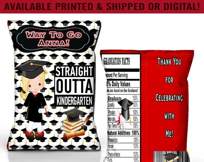 Graduation Chip Bag - Graduation Favor Bag - Graduation Party - Party Favor - Kindergarten Party - Party Printables - Digital File -