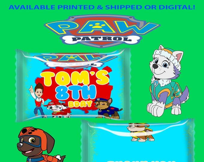 Paw Patrol Sour Patch Kids Favors - Paw Patrol Favors - Candy Favors - Favor Bags - Paw Patrol Party - Party Printable - Digital - Printed