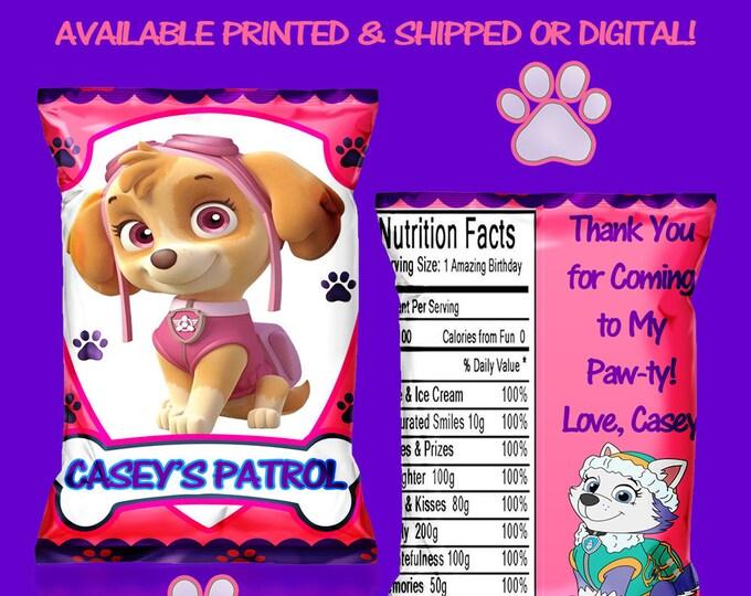 Paw Patrol Favor Bag - Chip Bag - Paw Patrol Party - Party Favor - Party Printable - Digital - Printed - Printable