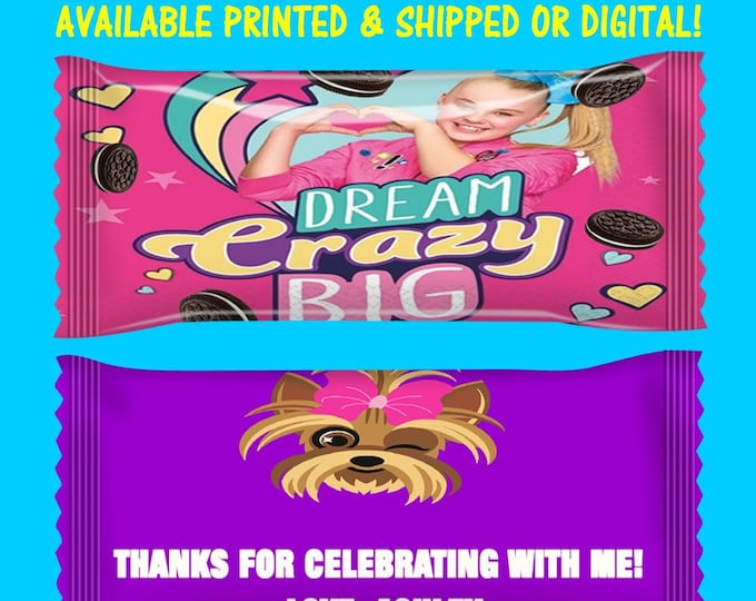 JoJo Cookie Bags - JoJo Cookie Wrappers - Custom Party Favors - JoJo Favor Bags - Cookie Party Favors - Digital - Printable - Printed