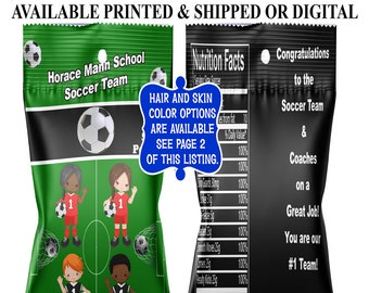 Soccer Peanut Party Favors - Soccer Party - Party Favors - Soccer Party Favors - Digital - Printed - Party Printables