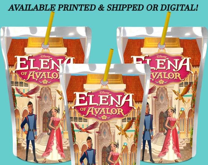 Elena of Avalor Capri Sun Labels - Capri Sun Labels - Juice Pouch Labels - Juice Pouch Stickers - Party Printables - Printed