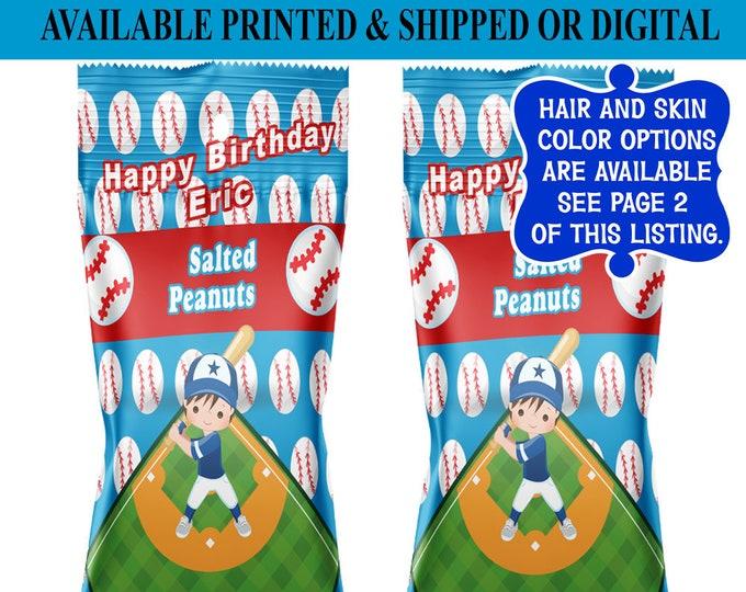 Baseball Peanut Party Favors - Baseball Party - Party Favors - Baseball Party - Digital - Printed - Party Printables