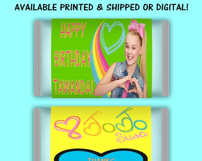 JoJo Popcorn Wrapper Labels - JoJo Party - JoJo Birthday - Party Printables - Digital File - Party Favors - Printables - Printed