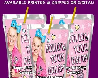 JoJo Capri Sun Label - Juice Pouch Label - Party Favor - Party Printables - JoJo - Digital - Printable - Party Printable - Printed