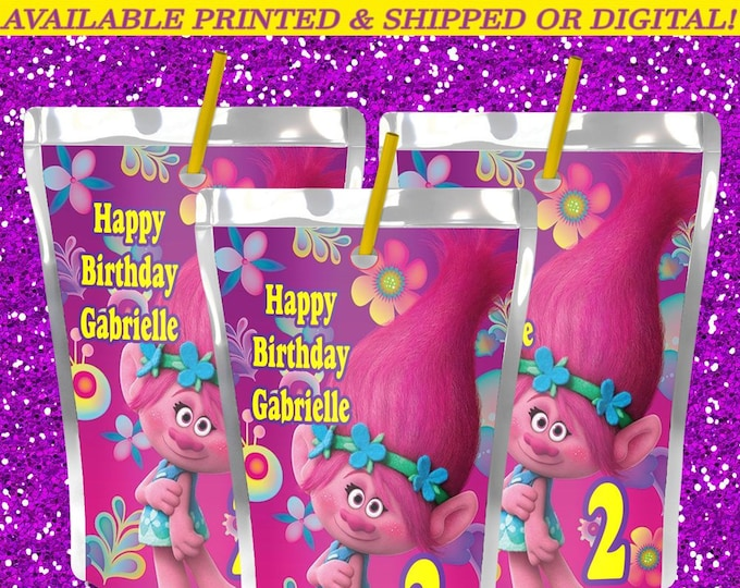 Trolls Capri Sun Label - Trolls Theme - Party Favors - Capri Sun Labels - Juice Pouch Label - Trolls Party - Digital File - Party Printables