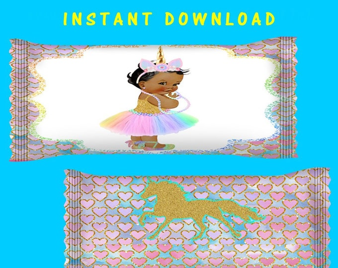 Unicorn Candy Wrapper - INSTANT DIGITAL DOWNLOAD - File Cannot Be Customized - File Not Editable - Unicorn - Unicorn Candy Bag - Printed