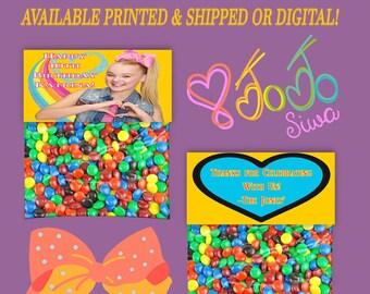 JoJo Treat Bag Topper - Bag Toppers - Tent Fold Labels - Favor Bag Topper - Treat Bag Topper - Party Favor - Digital -  Printable