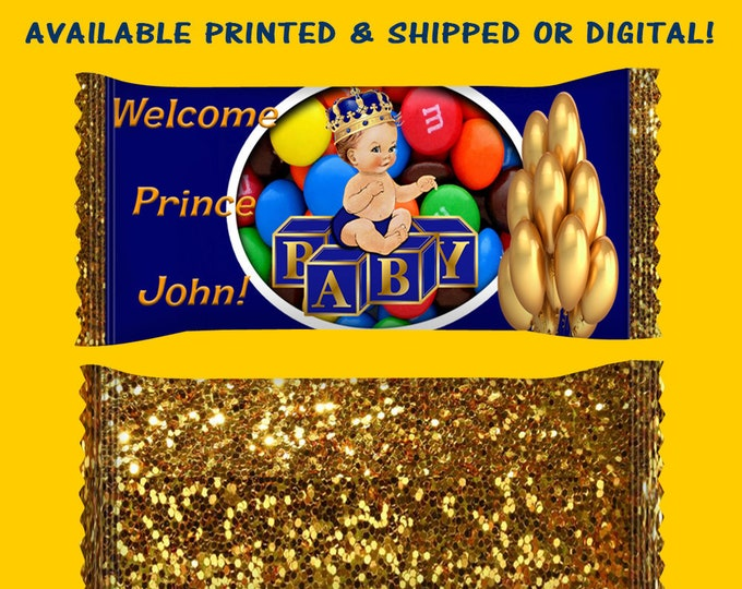 Prince Baby Shower Candy Wrapper - Prince Baby Shower - Baby Shower - Candy Wrapper - M&Ms Candy Wrapper - Digital - Printed