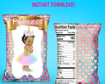 Unicorn Baby Shower Chip Bag - INSTANT DIGITAL DOWNLOAD - File Cannot Be Customized - Unicorn Baby Shower - File Not Editable - Favor Bag