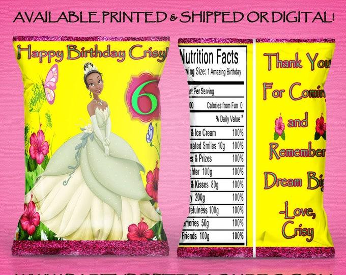 Princess Tiana Favor Bags - Chip Bag - Princess Tiana Chip Bags - Favor Bag - Princess Tiana - Digital - Printed - Printable