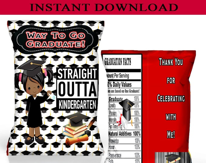 Graduation Chip Bag - INSTANT DIGITAL DOWNLOAD - File Cannot Be Customized - File Not Editable - Graduation Party - Kindergarten - Digital