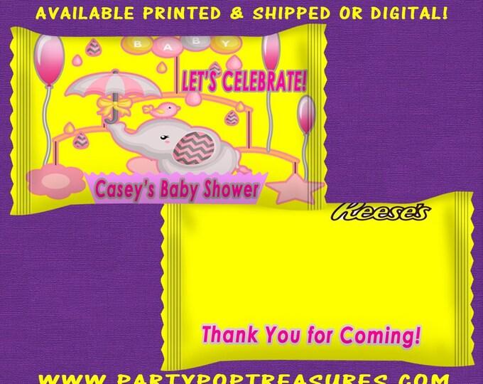 Elephant Theme Baby Shower, Boy Baby, Custom Party Favors, Kids Party, Favor Bags, Party Favor Bags, Party Printables, Digital, Printed