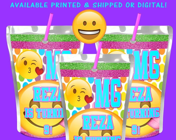 Emoji Capri Sun Labels - Emoji - Juice Pouch Labels - Emoji Labels - Emoji Stickers - Emoji Party - Emoji Birthday - Digital - Printed