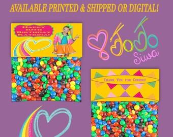 JoJo Treat Bag Topper - Bag Toppers - Tent Fold Labels - Treat Bag Topper - Bag Topper - Party Favor - Digital - Printable