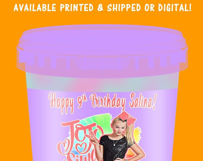 JoJo Cotton Candy Tub Labels - Labels - JoJo Party - Cotton Candy - Digital - Party Printable - Printed