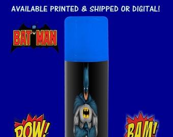 Batman Silly String Labels - Batman Birthday Party- Batman Custom Labels - Digital- Party Printables - Party Favors - Printable - Printed