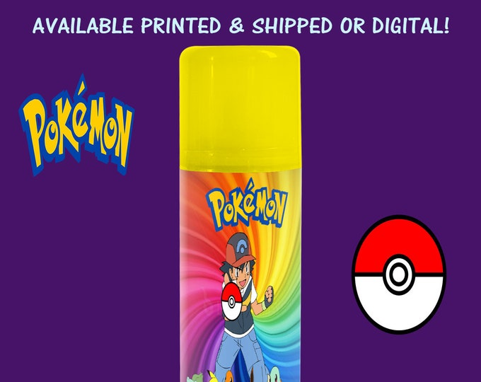Pokemon - Silly String Labels - Pokemon Silly String - Pokemon Labels - Stickers - Silly String Stickers - Digital - Printed