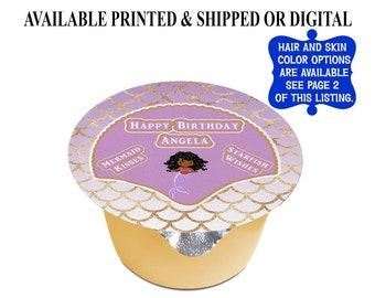Mermaid Applesauce Labels (3 inches) - Mermaid Jello Labels - Mermaid Birthday - Mermaid Party - Custom Labels - Stickers - Digital