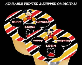 Mickey Mouse Applesauce or Jello Labels - (3 inch label) - Mickey Mouse Party - Mickey Mouse Birthday - Digital File - Party Printables